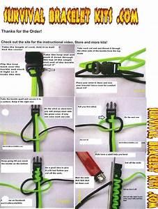 Survival Bracelet Instructions Includes Cord   Buckles