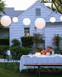 Des Boules Japonaises Pour Clairage Table De Jardin