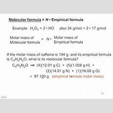 35  Calculating A Molecular Formula From An Empirical Formula And Molar Mass Youtube