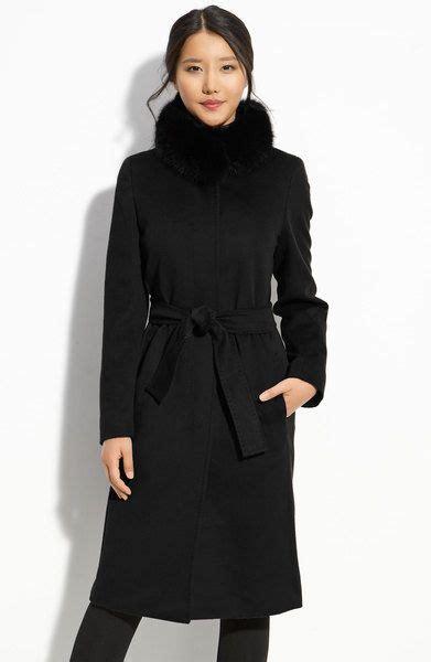 weekend  maxmara black max mara studio wool coat