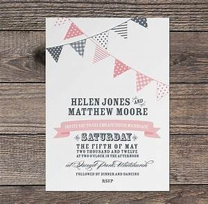 bunting wedding invitation by project pretty With free printable wedding invitations bunting