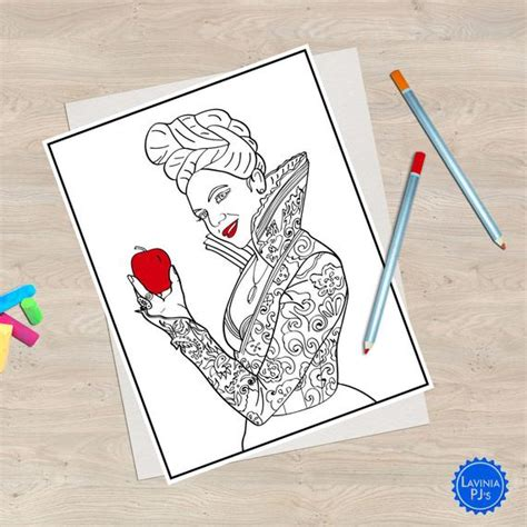 time coloring book pages reginaevil queen