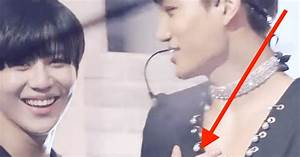 Taemin Teases EXO Fansite Manager By Caressing Kai's Chest
