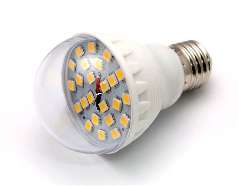 24x 5050 12v 5 5w led light bulb e26 e27 bc base solar dc
