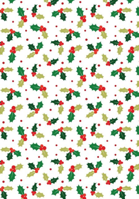 craft designs  christmas holly scrapbook paper