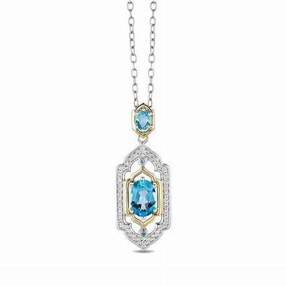 Disney Enchanted Fine Diamond Pendant Topaz Jewellery