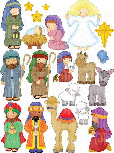 Nativity Clip Nativity Digital Clip Set Personal And Commercial