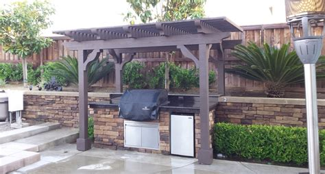wooden bbq cover landscape contractor pavers patio covers turf concrete southern ca
