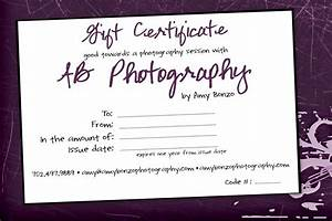 Photography Gift Certificate. gift ideas carrington ...