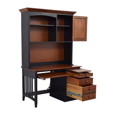 Ethan Allen Desk With Hutch - 87 ethan allen ethan allen cherry wood black desk