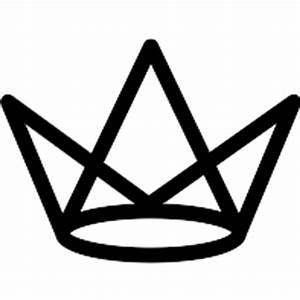 Royal crown outline - Free shapes icons