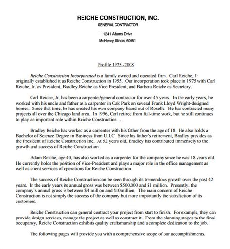 free 5 sle construction resumes in pdf word