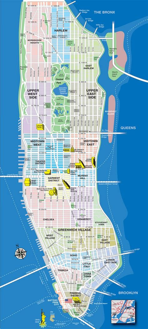 york city map manhattan manhattan tourist map
