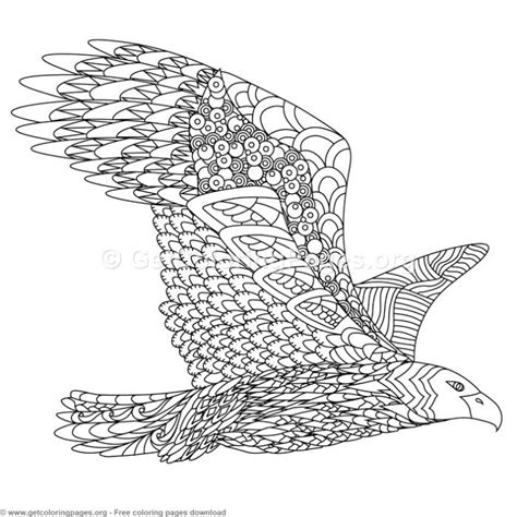 eagle zentangle coloring pages getcoloringpagesorg