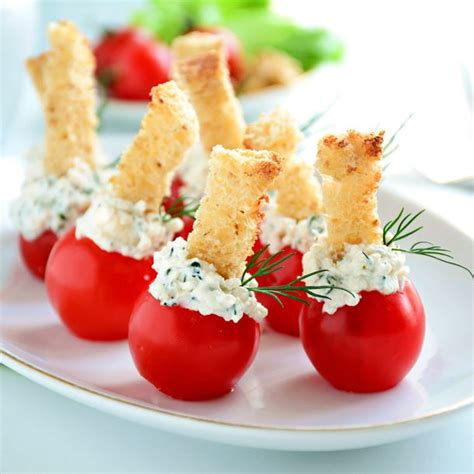 recette apéritif frais tomates et chèvre