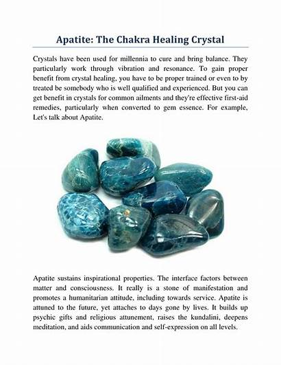 Apatite Healing Crystal Chakra Powerpoint Presentation Ppt