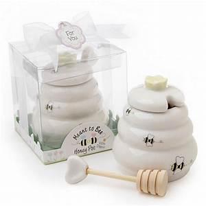 quotmeant to beequot honey pot favor With honey pot wedding favors
