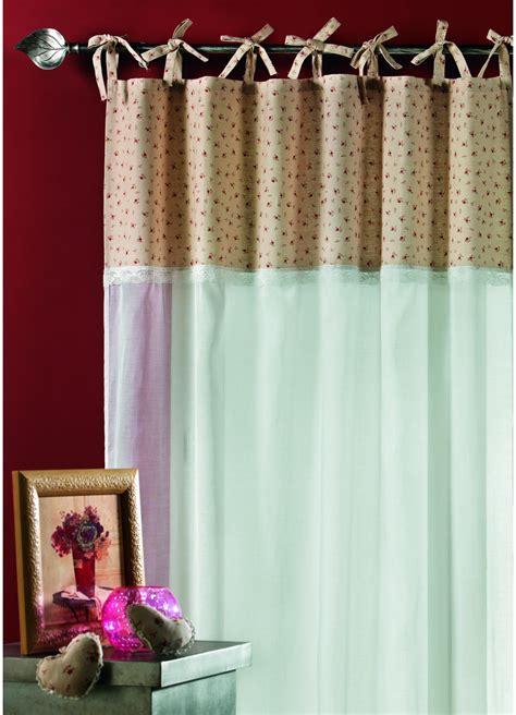 rideau en voile de coton avec parement imprim 233 ivoire homemaison vente en ligne voilages