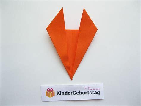 origami fuchs anleitung origami fuchs falten kiga fuchs basteln origami fuchs und origami