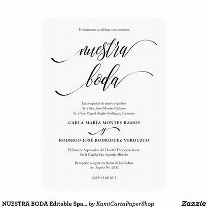 Spanish Invitations Invitation Boda Editable Wording Zazzle