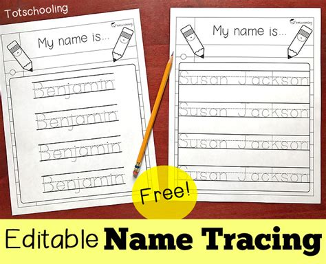 editable name tracing sheet totschooling toddler 411 | Name Tracing 2