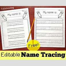 Editable Name Tracing Sheet  Totschooling  Toddler, Preschool, Kindergarten Educational Printables