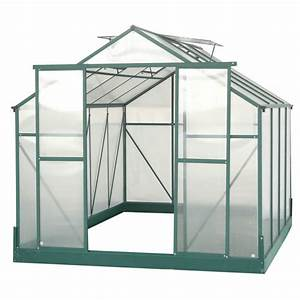 Serre De Jardin Polycarbonate : serre de jardin 7 08m polycarbonate 4mm embase ~ Dailycaller-alerts.com Idées de Décoration