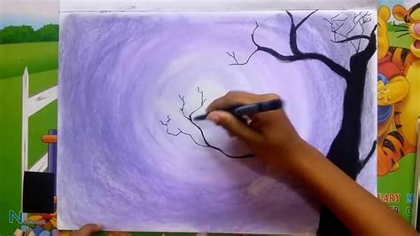 night time easy drawing  soft pastels youtube