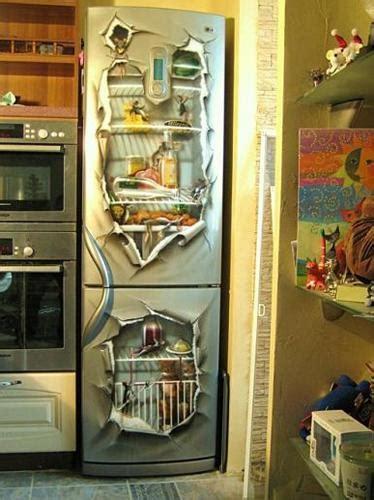 kitchen decorating  dress   fridge  wall stickers  paint