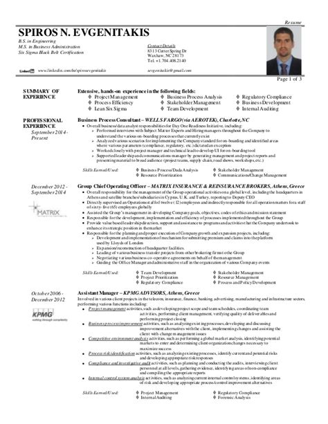 Six Sigma Green Belt Resume by Spiros Evgenitakis Resume Let R30