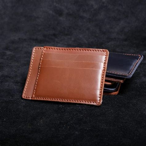 genuine leather mens cool slim front pocket wallet leather wallet men ichainwallets