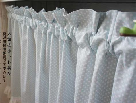 french country polka dot blue cafe kitchen curtain 002 ebay