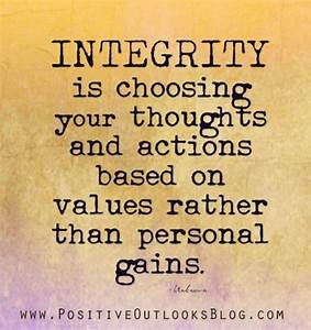 personal integrity essay