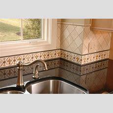 Hand Painted Kitchen Border Tile Backsplash