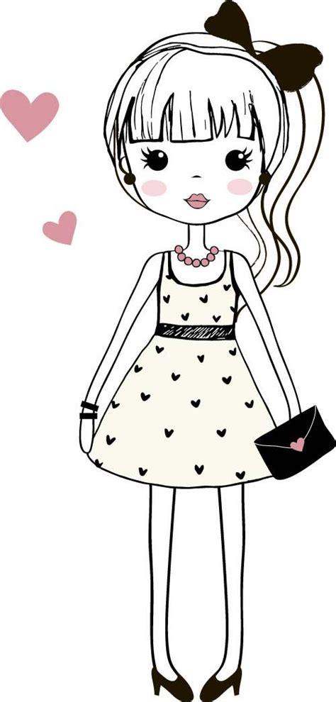 cute cartoon girl ideas  pinterest cartoon