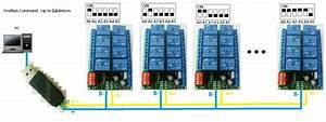 8 Channel Dc 12v Rs485 Relay Module Modbus Rtu 485 Remote