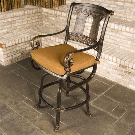 hanamint st moritz bar stool outdoor family leisure