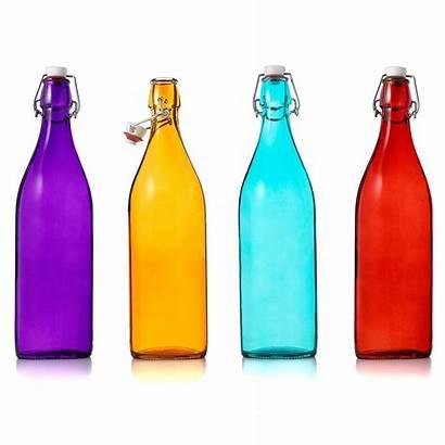 Bottles Glass Bottle Jars Decorative Water Italian