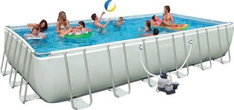 poolset mit sandfilteranlage intex pool set mit sandfilteranlage 732 366 132 cm 187 ultra frame pool komplett set rectangular