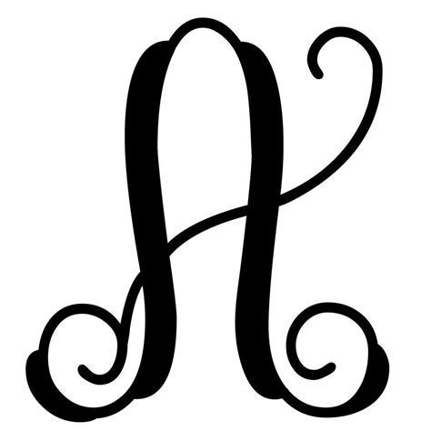 vine monogram letter  initial vine monogram initials decal monogram vinyl decal