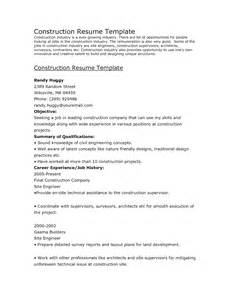 construction worker objective for resume construction resume template cv exles