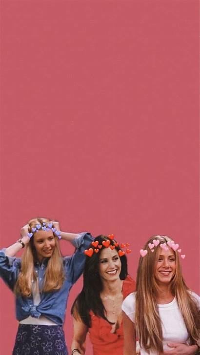 Friends Tv Aesthetic Wallpapers Phoebe Rachel Iphone