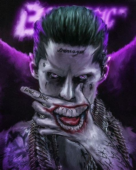 Jared Leto The Joker Suicide Squad  Movie +tv Art