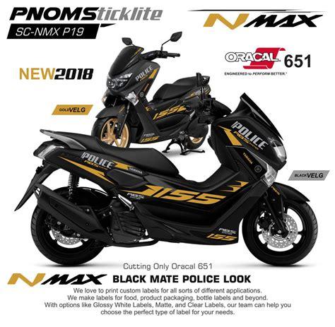 Nmax 2018 Matte by Jual Cutting Sticker Nmax Black Mate 2018 Di Lapak