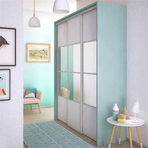 porte placard cuisine leroy merlin porte de placard coulissante neige mat miroir spaceo l