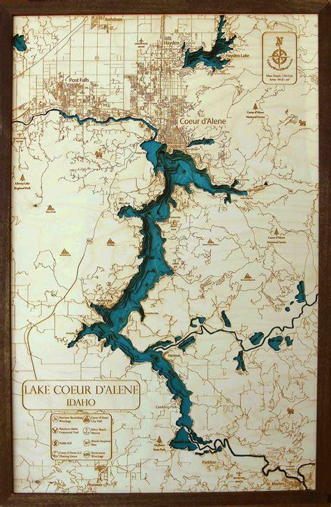 large coeur  alene  wood map tahoe wood maps