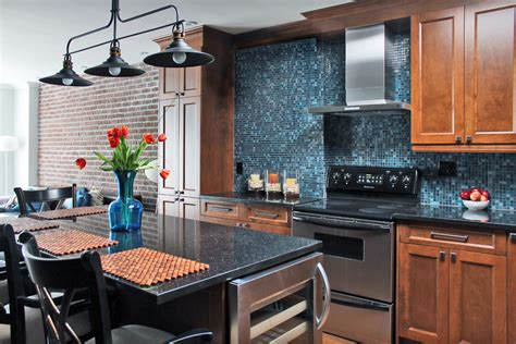 blue countertop kitchen ideas gorgeous black galaxy granite convention montreal