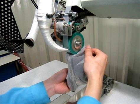 rotary hot air seam sealing machine  shoes youtube