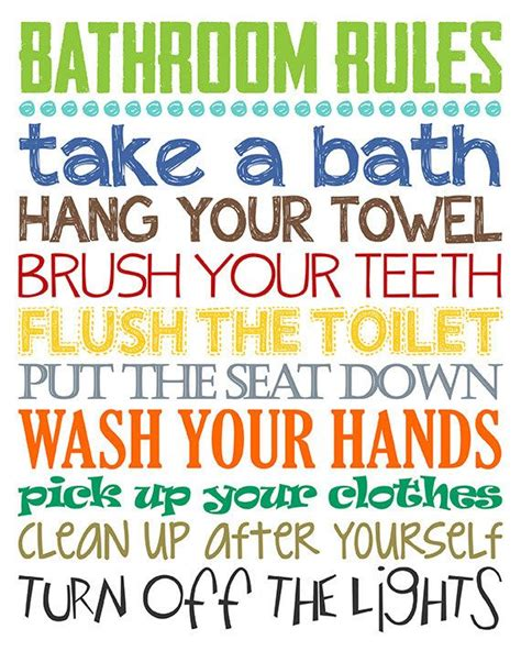 The 25+ Best Bathroom Rules Ideas On Pinterest  Signs For