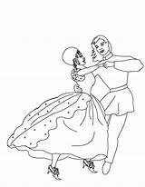 Coloring Colouring Ballroom Clipart Dancer Clip Dancing Cliparts Perilous Library sketch template